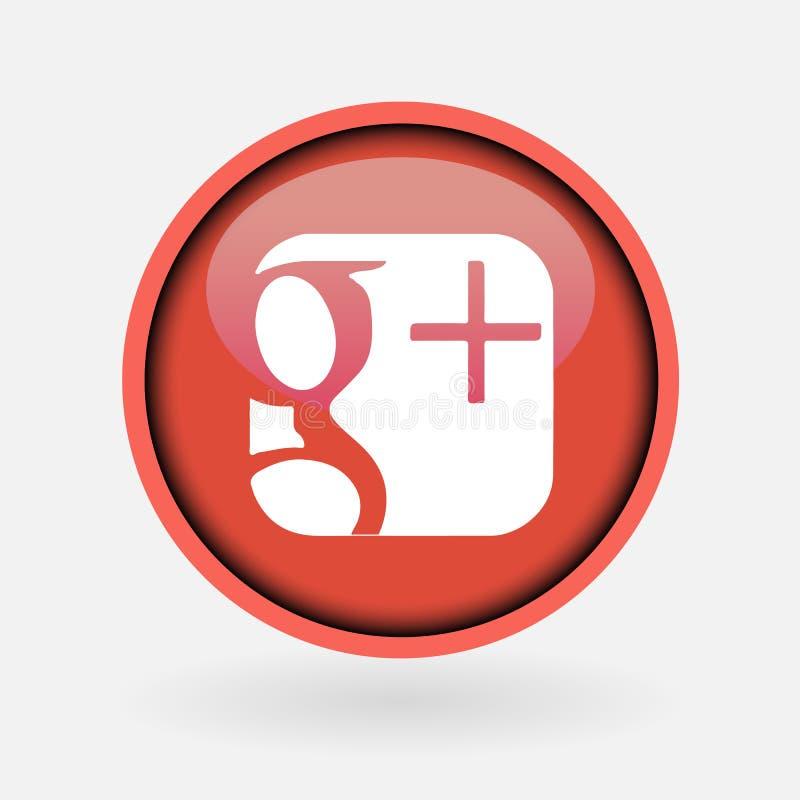 Colección de logotipo social popular de los medios impreso en el Libro Blanco: Google Plus libre illustration