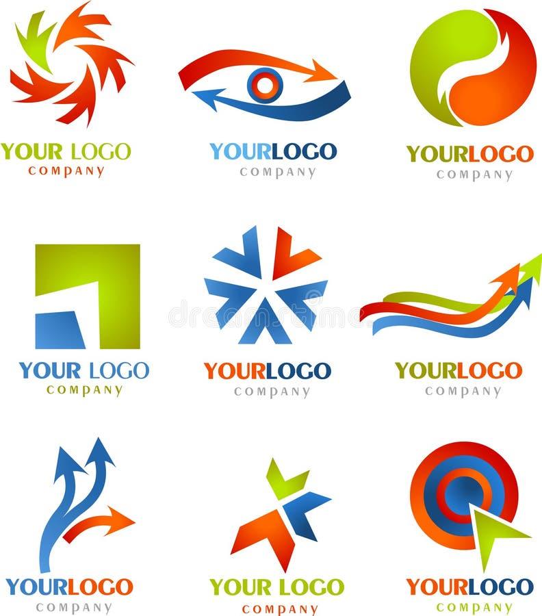Colección de logotipos y de iconos de las FLECHAS stock de ilustración