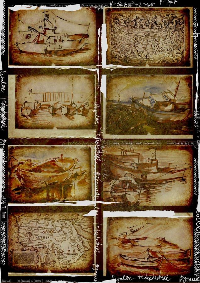 Colección de los barcos ilustración del vector