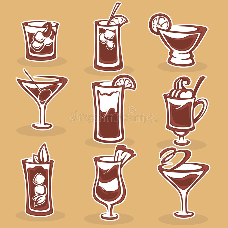 Colección de los cócteles libre illustration