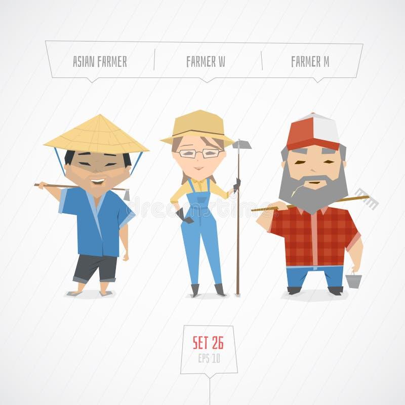 Colección de los caracteres de las profesiones libre illustration