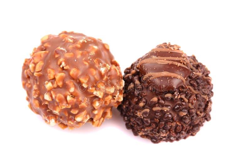 Colección de los caramelos de chocolate fotografía de archivo libre de regalías