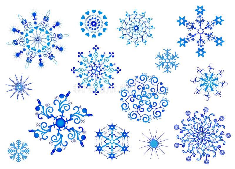 Colección de los copos de nieve. Objeto aislado vector.   ilustración del vector