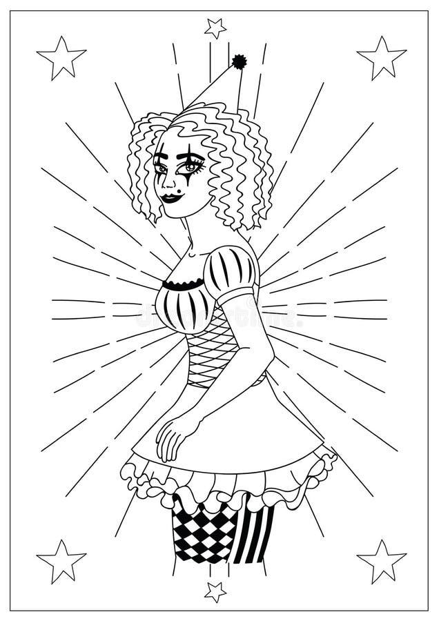 Colección de los ejemplos del circo del vintage libre illustration