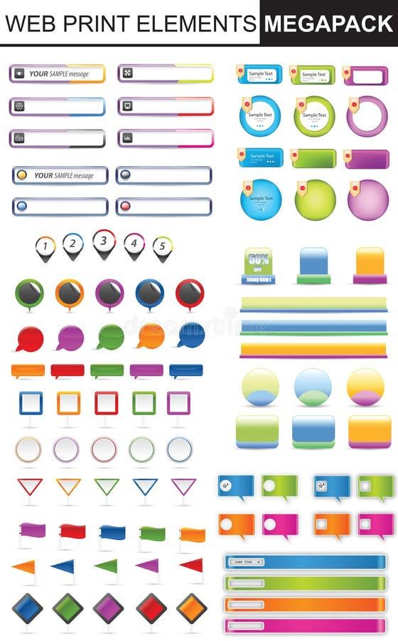 Colección de los elementos del diseño stock de ilustración