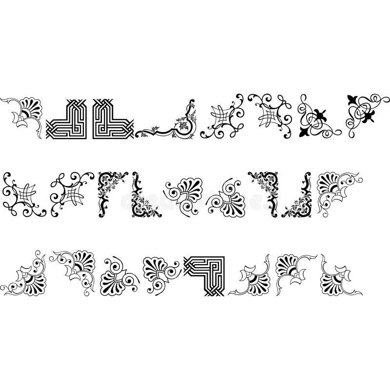Colección de los elementos del diseño gráfico de vector ilustración del vector