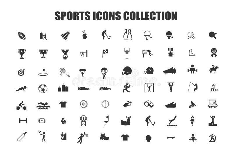 Colección de los iconos de los deportes libre illustration