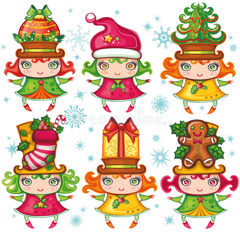 Colección de los niños de Navidad libre illustration