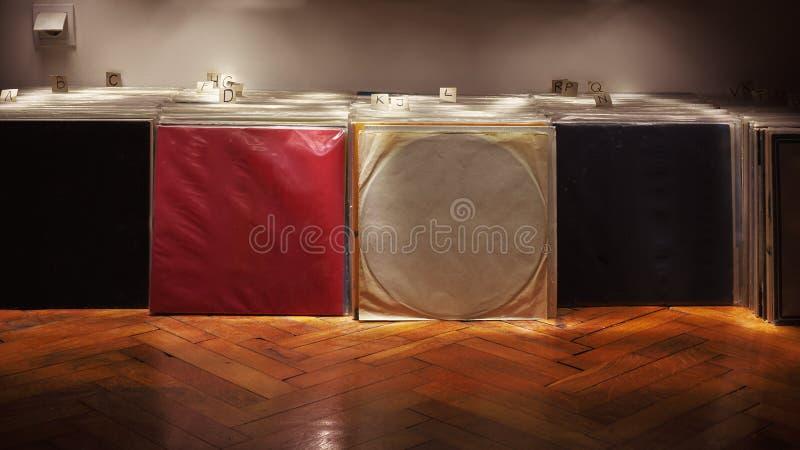 Colección de los vinilos del gramófono imagen de archivo libre de regalías