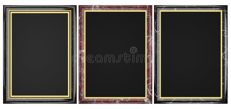 Colección de mármol negra y roja de la placa imágenes de archivo libres de regalías