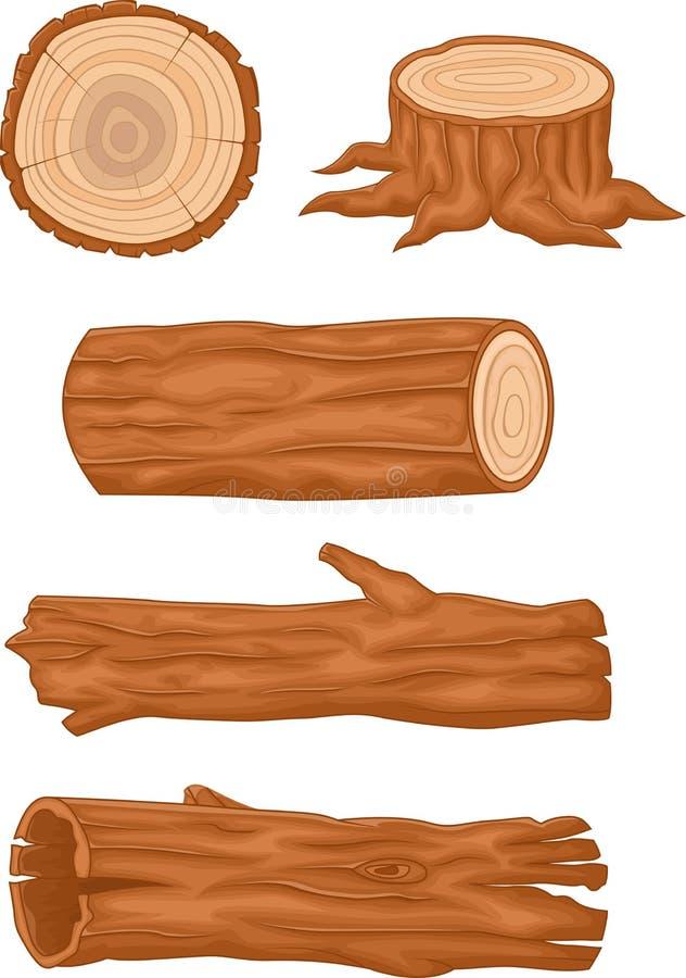Colección de madera del registro libre illustration