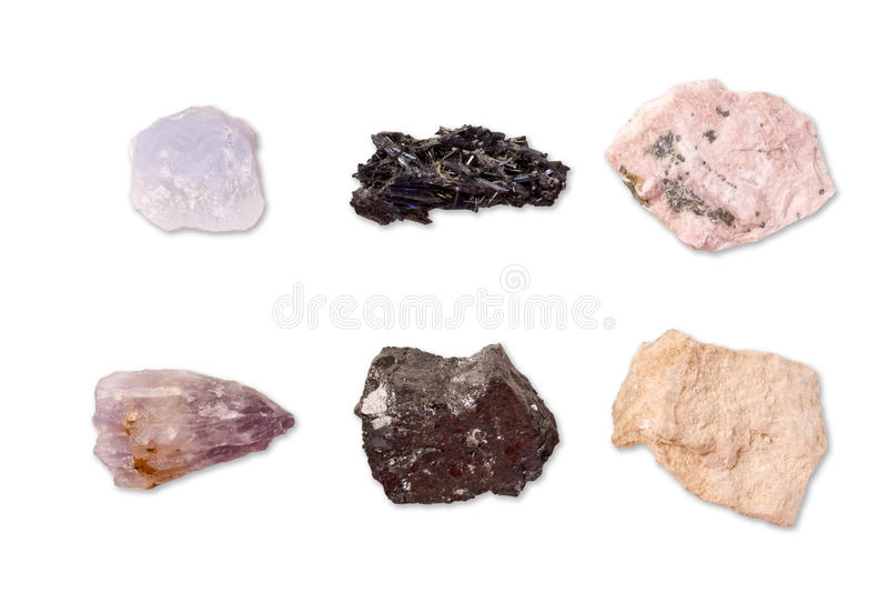 Colección de minerales imágenes de archivo libres de regalías