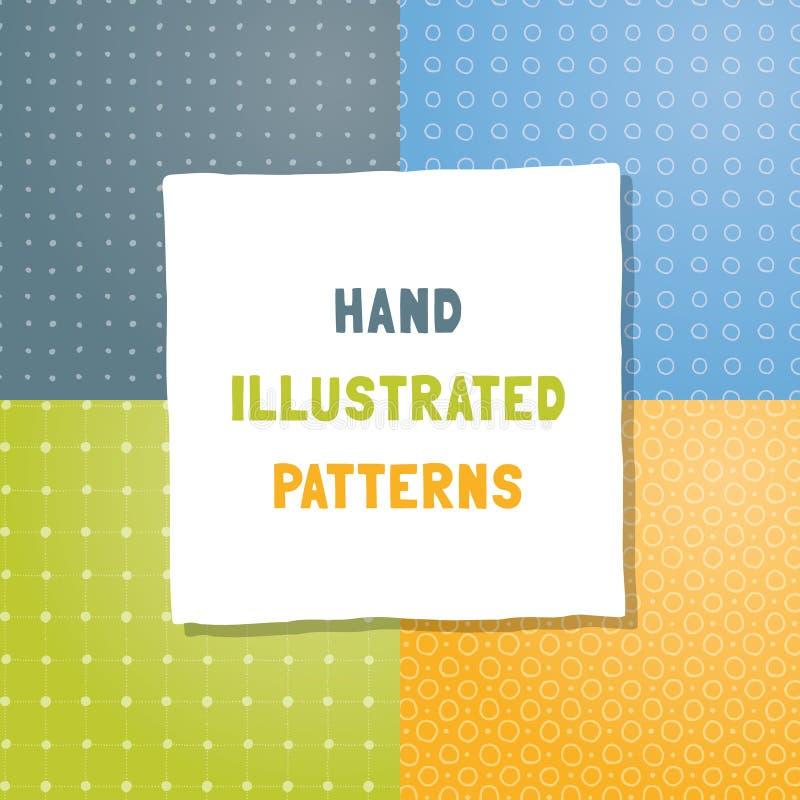 Colección de modelos del vector del drenaje de la mano ilustración del vector