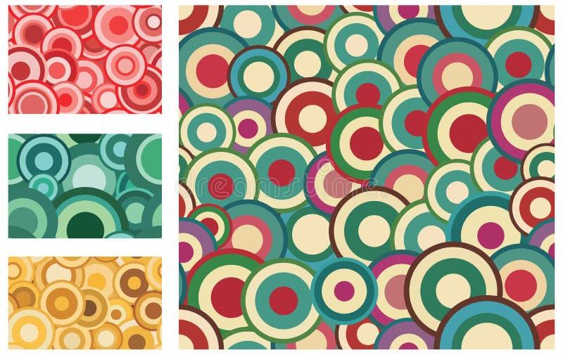 Colección de modelos retros inconsútiles con los círculos libre illustration