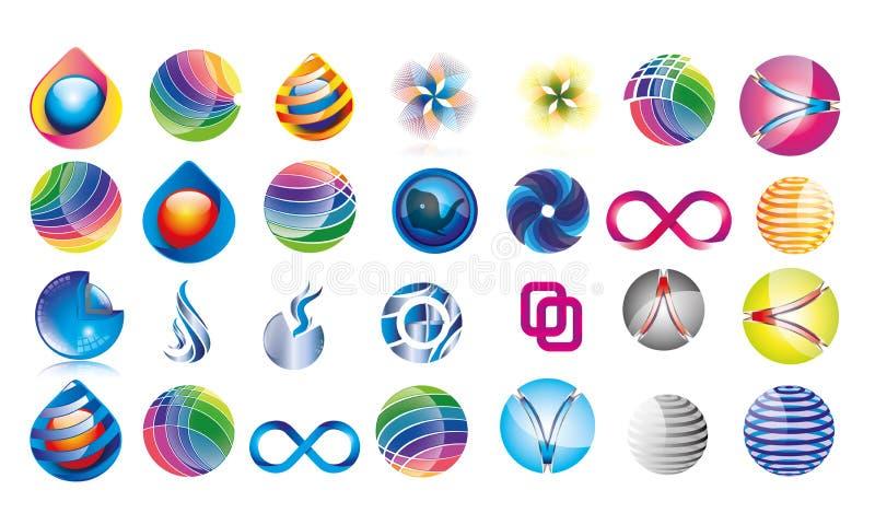 Colección de muchos Logo Templates Different Concepst libre illustration