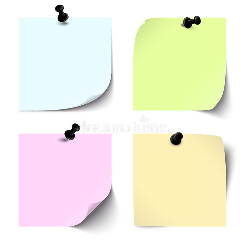 Download Colección De Notas Pegajosas Coloreadas Espacio En Blanco Ilustración del Vector - Ilustración de información, verde: 41921290