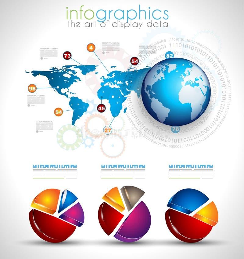 Colección de objetos de Infographics de la calidad ilustración del vector