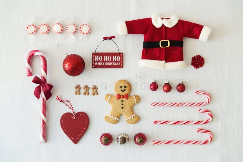Colección de objetos de la Navidad imágenes de archivo libres de regalías