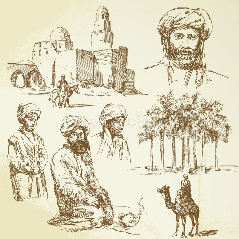Colección de Oriente stock de ilustración