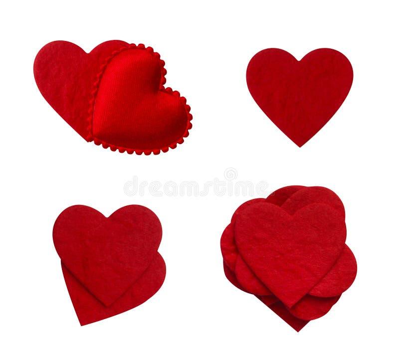 Colección de papel aislada del corazón del amor imagenes de archivo