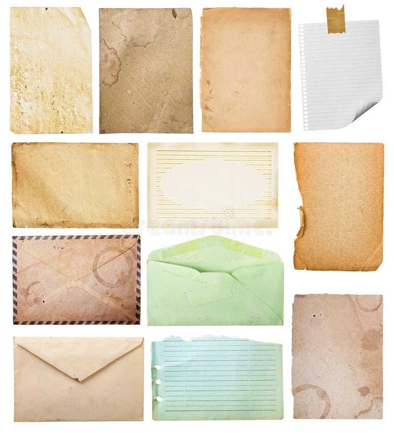 Colección de papel de la vendimia. imagen de archivo