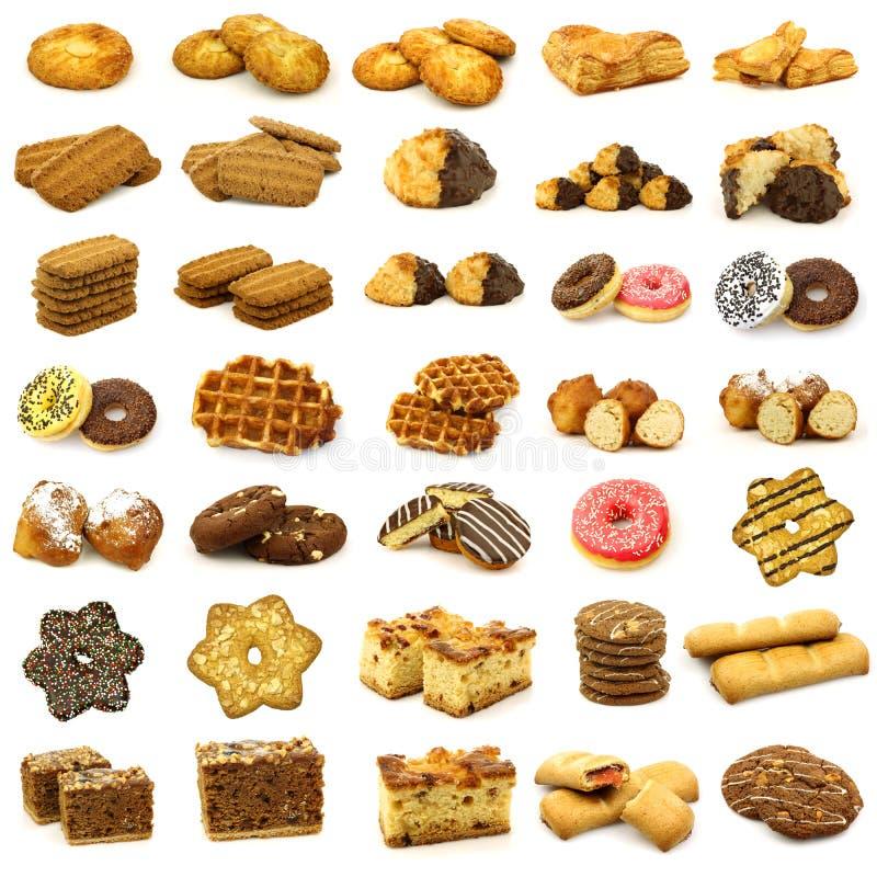 Colección de pasteles recientemente cocidos al horno fotos de archivo libres de regalías