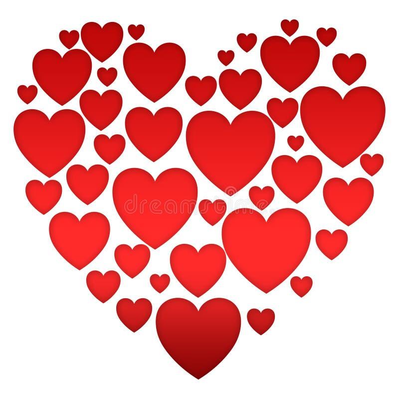 Colección de pequeños corazones libre illustration