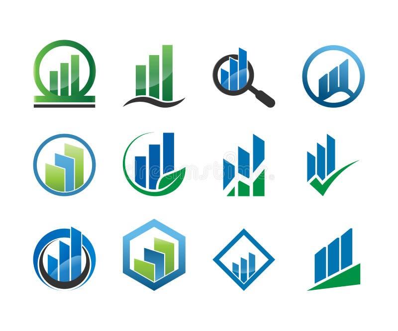 Colección de plantilla de levantamiento de la contabilidad de la barra de la estadística ilustración del vector