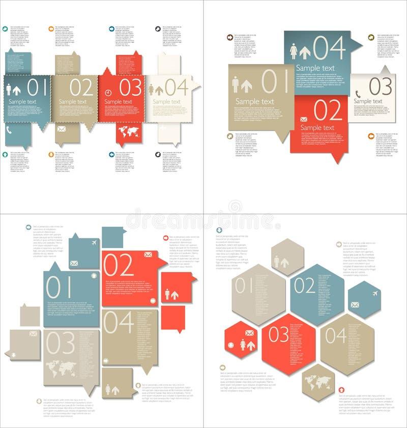 Colección de plantillas de Infographic ilustración del vector