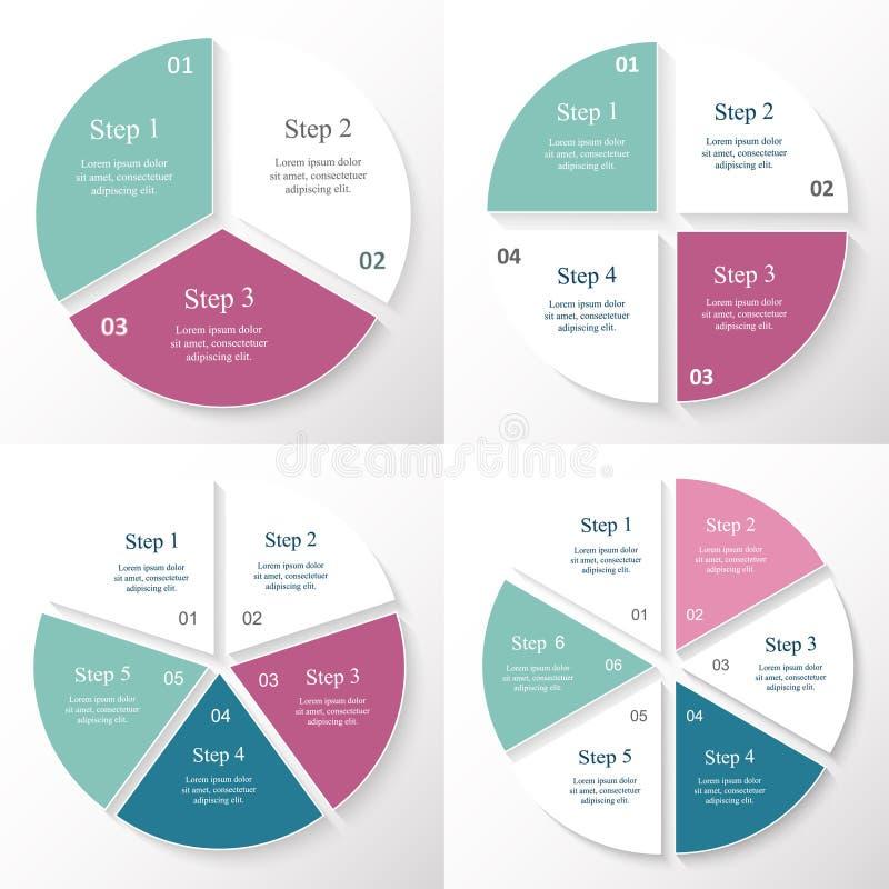 Colección de plantillas de Infographic para el negocio stock de ilustración