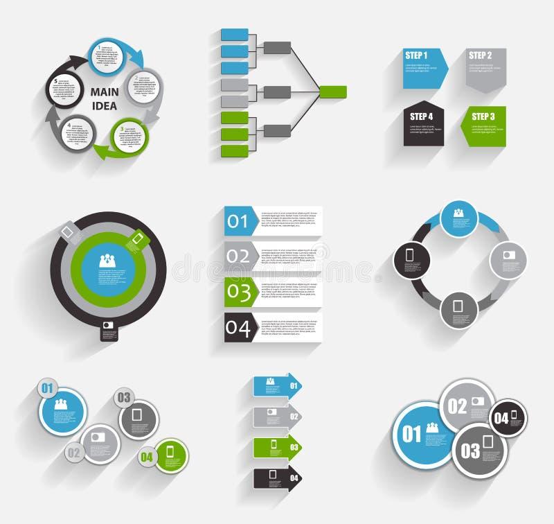 Colección de plantillas de Infographic para el vector Illustra del negocio ilustración del vector
