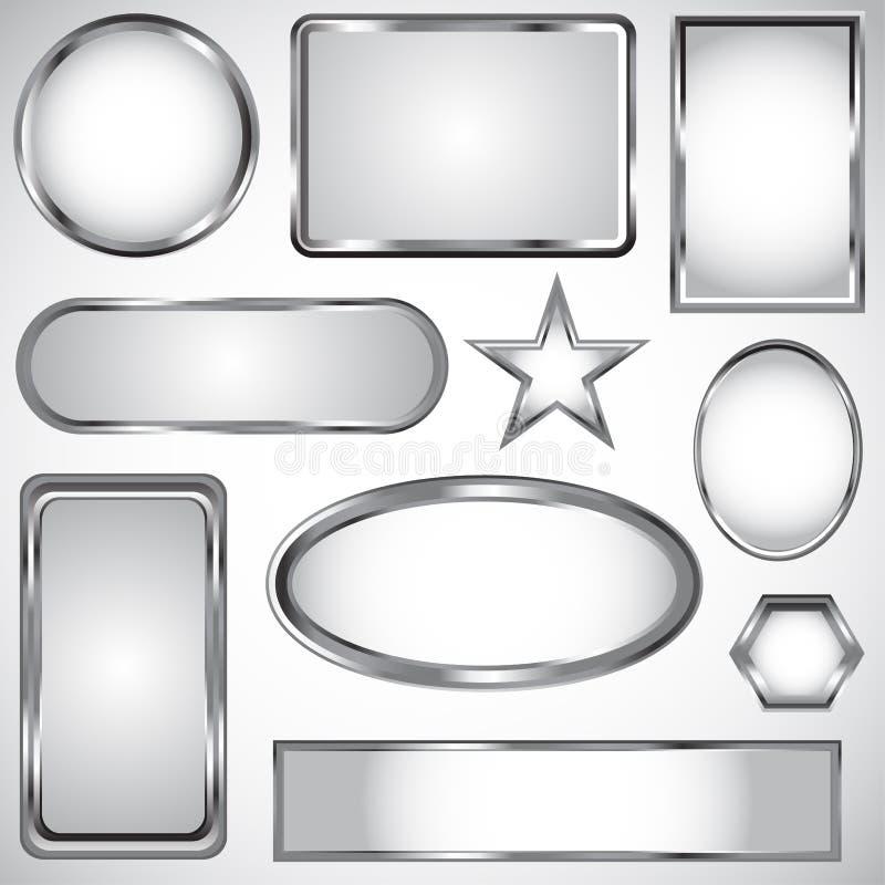 Colección de plata de la escritura de la etiqueta del vector libre illustration