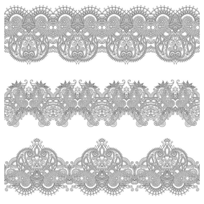 Download Colección De Rayas Florales Ornamentales Inconsútiles, Ilustración del Vector - Ilustración de elemento, ilustración: 44851239
