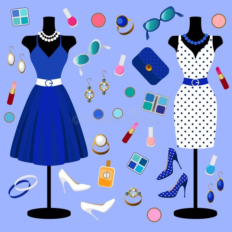 Colección de ropa de la moda fotografía de archivo libre de regalías