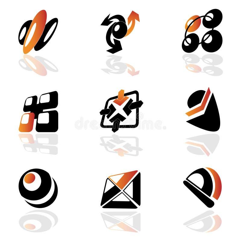 Colección de símbolos stock de ilustración