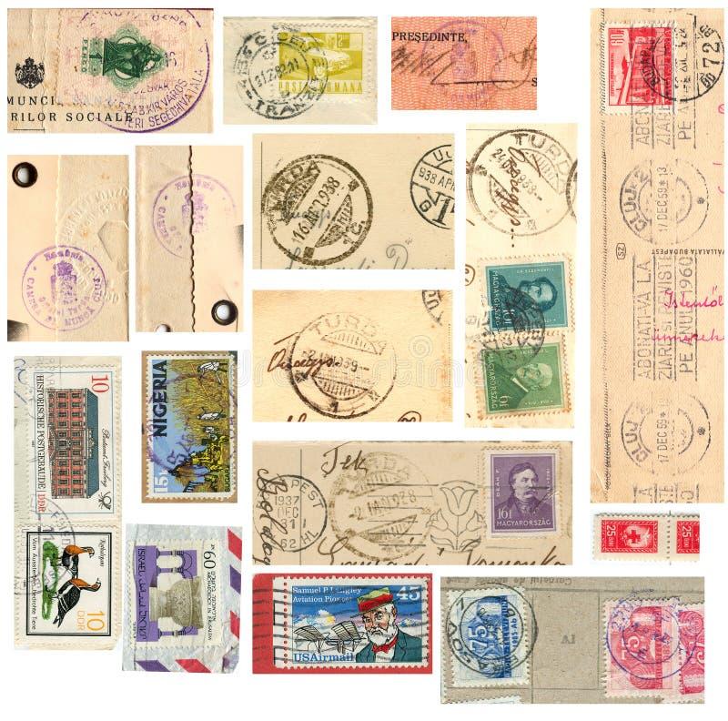 Colección de sello de la vendimia fotografía de archivo