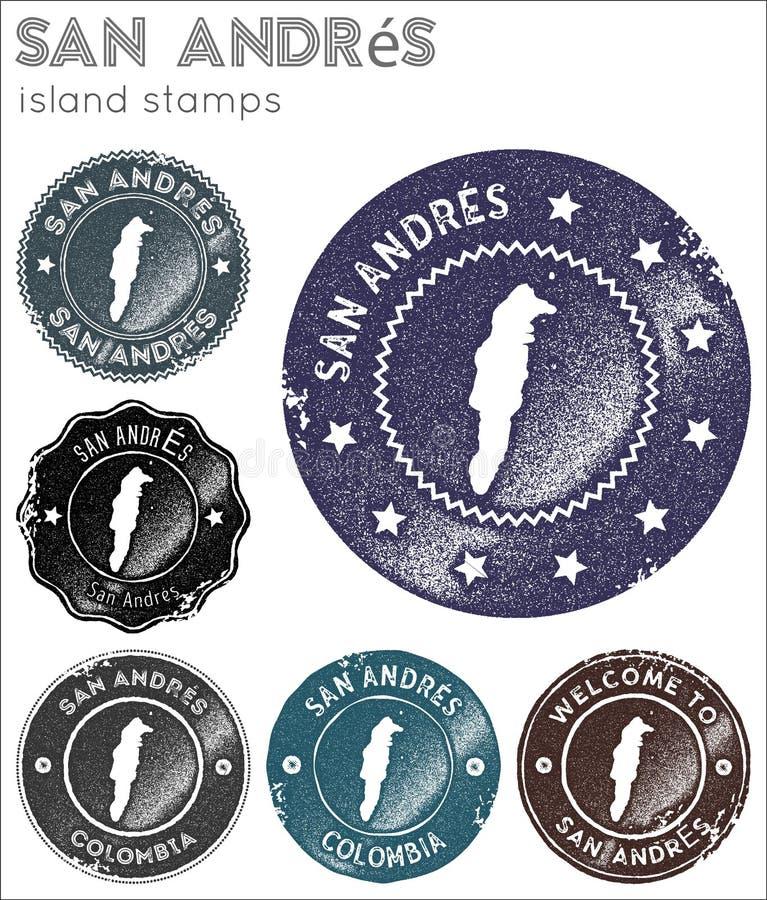 Colección de sellos de San Andres libre illustration
