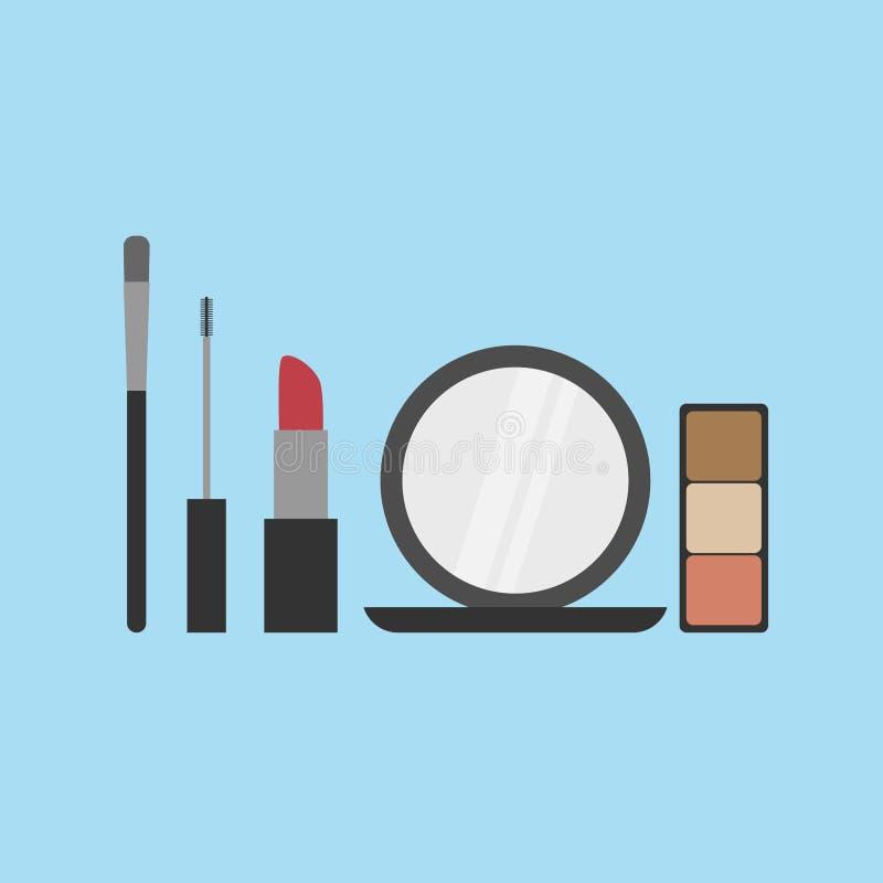 Colección de sistema cosmético del icono La moda compone libre illustration