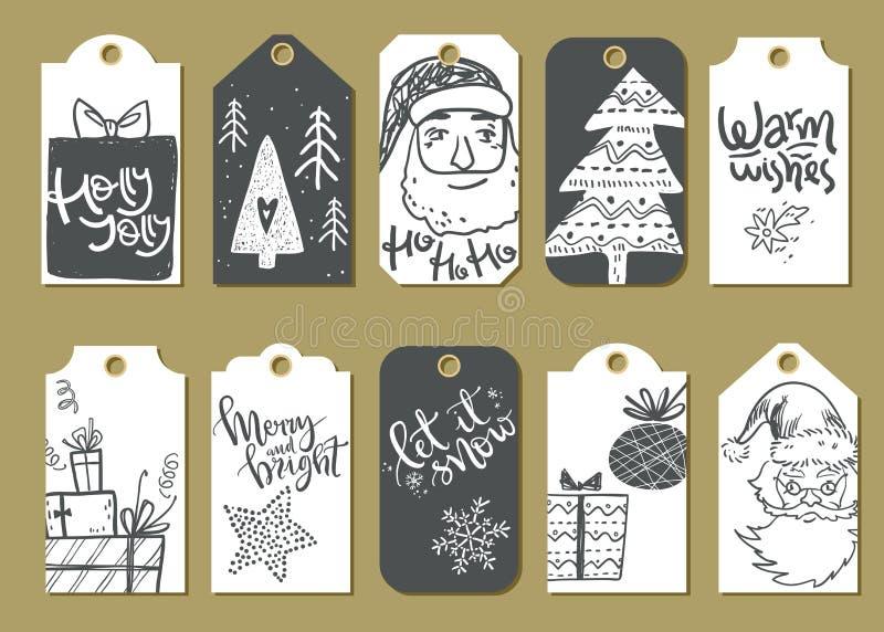 Colección de soldado enrollado en el ejército listo para utilizar lindo de la Navidad del vector y del Año Nuevo stock de ilustración