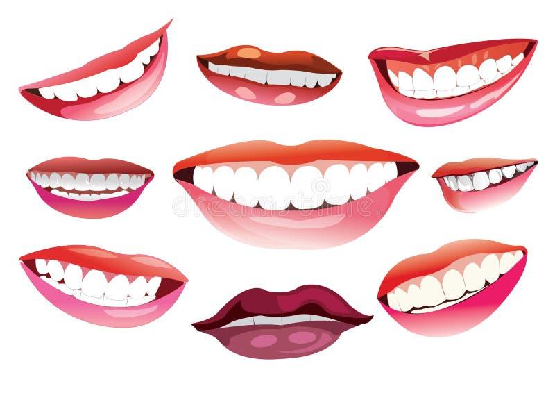 Colección de sonrisas ilustración del vector