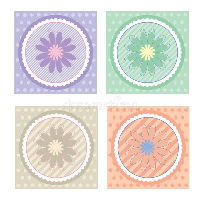 Colección de tarjetas/de etiquetas del regalo ilustración del vector