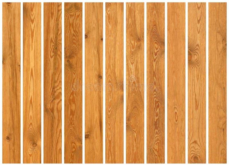 Colección de texturas de madera de los tablones fotografía de archivo
