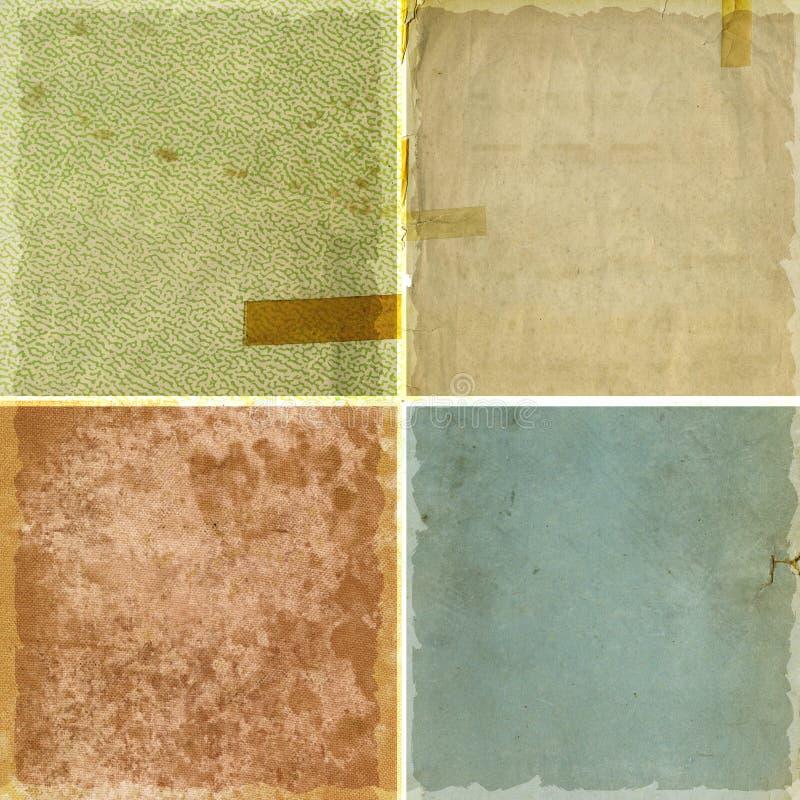 Colección de texturas del papel del grunge libre illustration