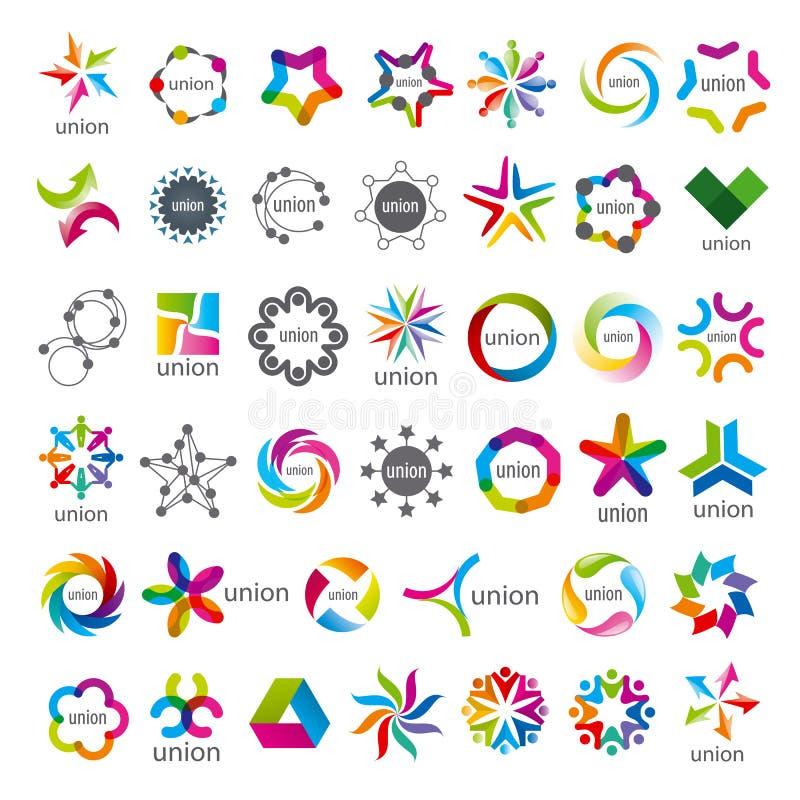 Colección de unión de los logotipos del vector ilustración del vector
