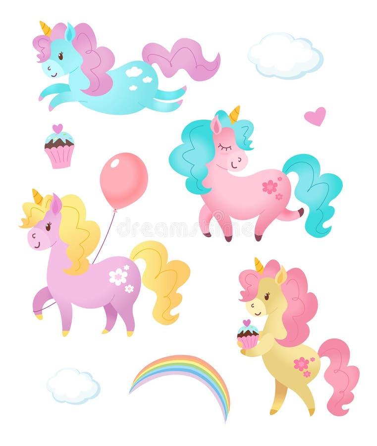 Colección de unicornios Ilustración del vector libre illustration