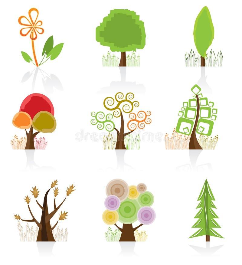Colección del árbol ilustración del vector