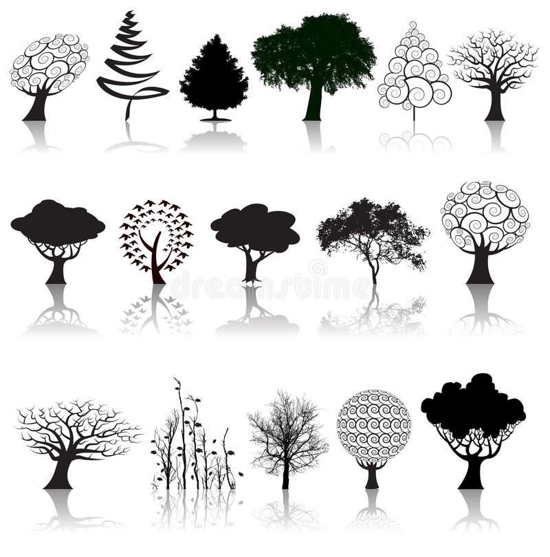 Colección del árbol stock de ilustración