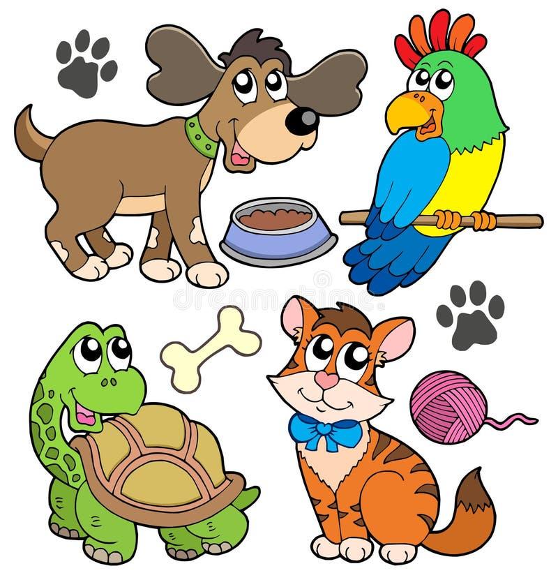 Colección del animal doméstico stock de ilustración