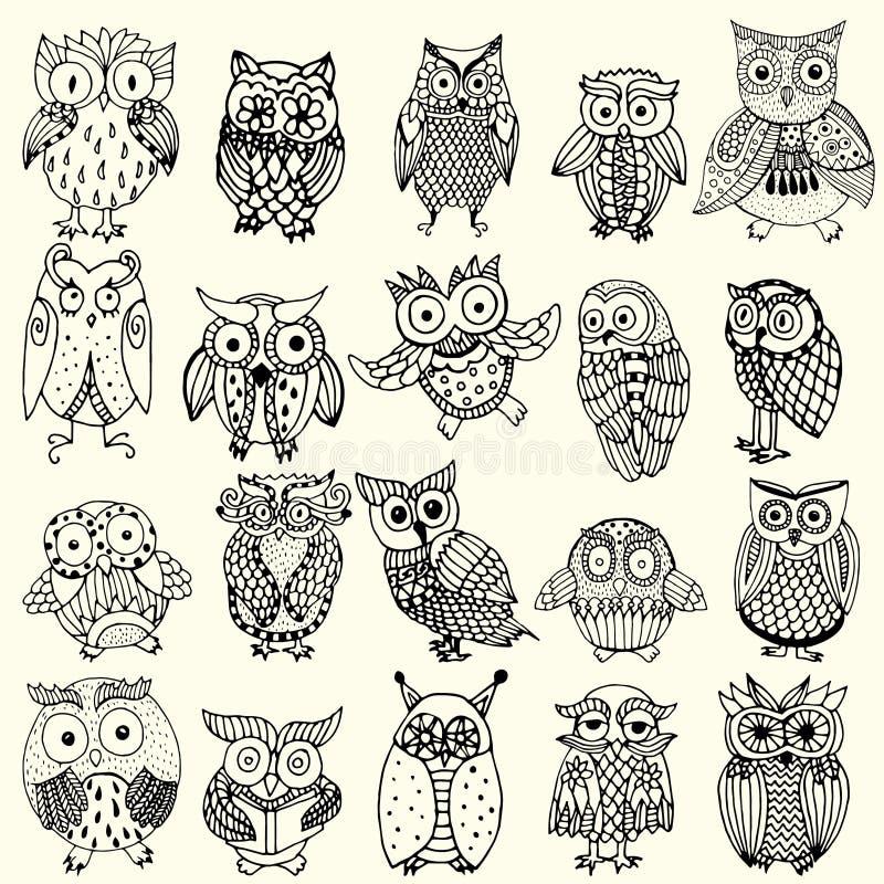 Colección del búho libre illustration