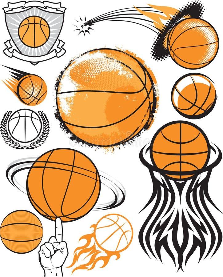 Colección del baloncesto ilustración del vector